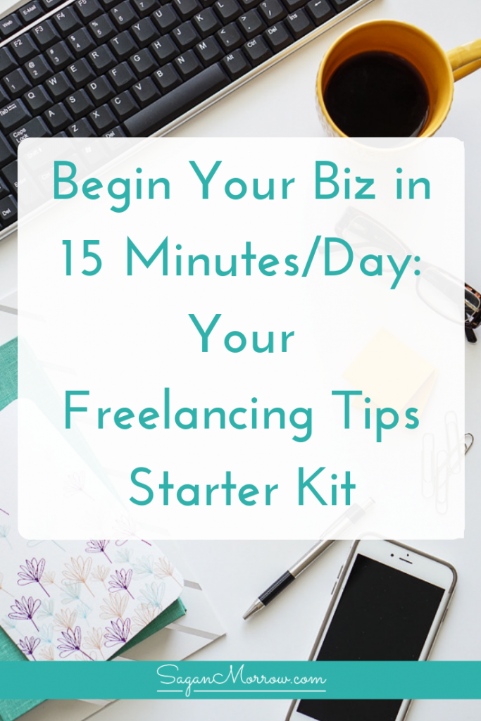 Want to be a freelancer, but overwhelmed with everything you need to do... and not sure you have the TIME for it? Fear not! Begin Your Biz in 15 Minutes/Day contains the freelancing tips you need to take action on your business, every single day, in manageable steps no matter how crunched for time you are. Click on over to get the freelance tips now!