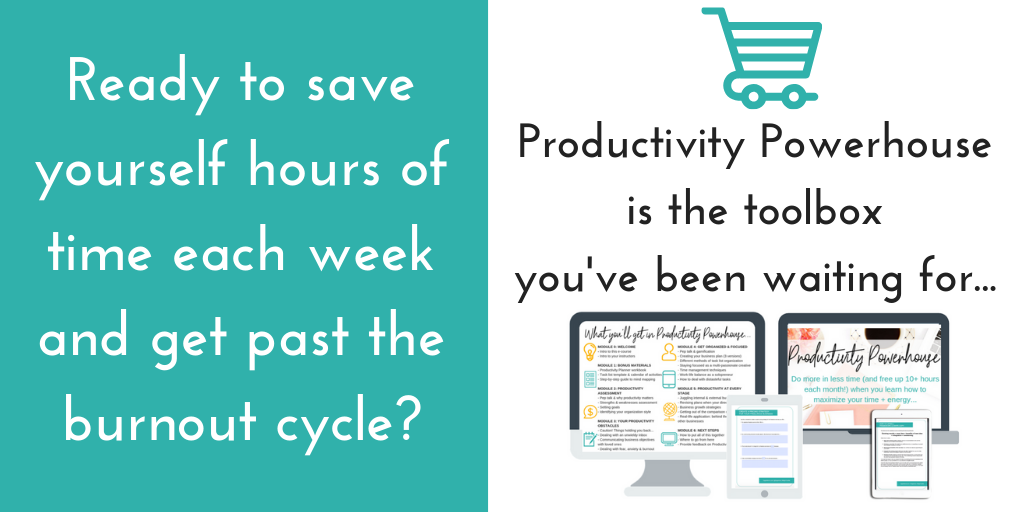 productivity tips e-course